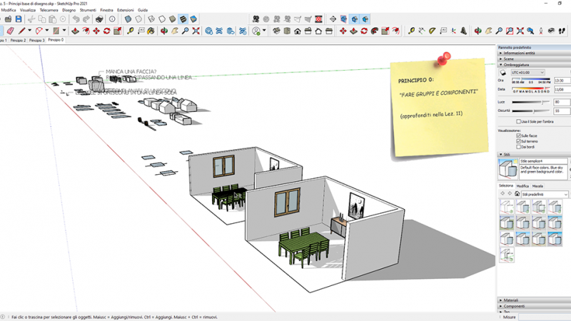 VIDEO-CORSO SketchUp Pro 2021 BASE (4 ore) 7