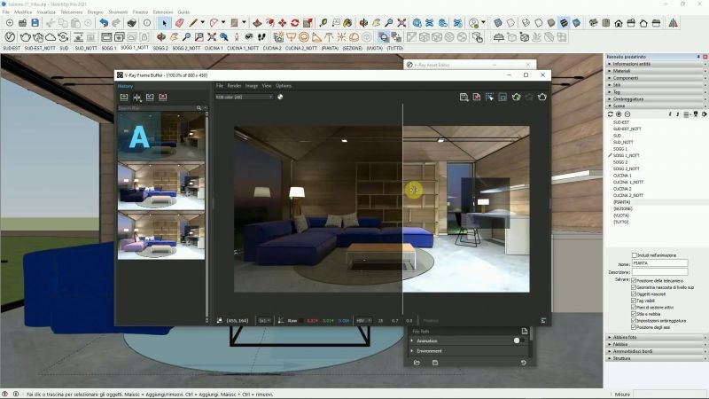 VIDEO-CORSO V-Ray for SketchUp BASE 0