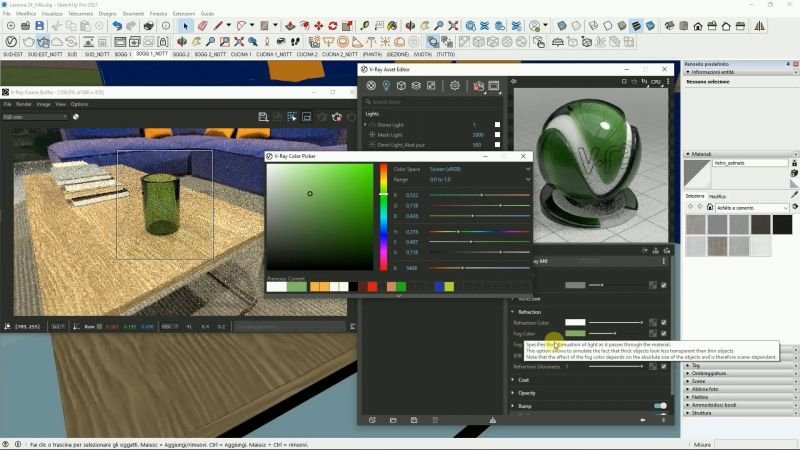 VIDEO-CORSO V-Ray for SketchUp BASE 5