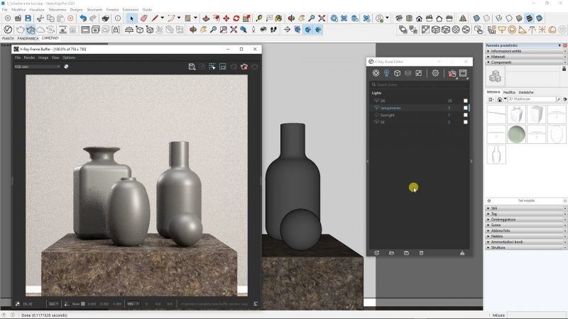 VIDEO-CORSO V-Ray for SketchUp BASE 7